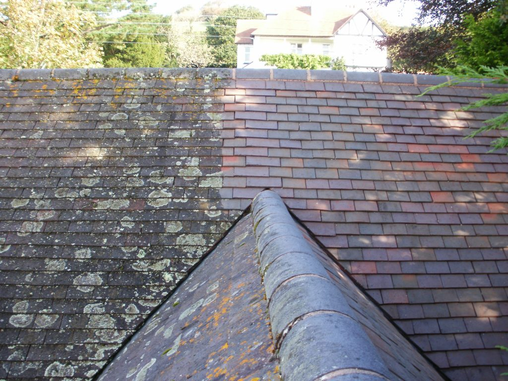 Cleaning Roof Tiles in North Devon