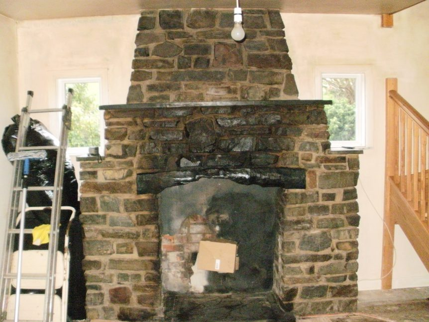Fireplace about to be cleaned - Fire Clean ups by Mark's Cleaning Devon