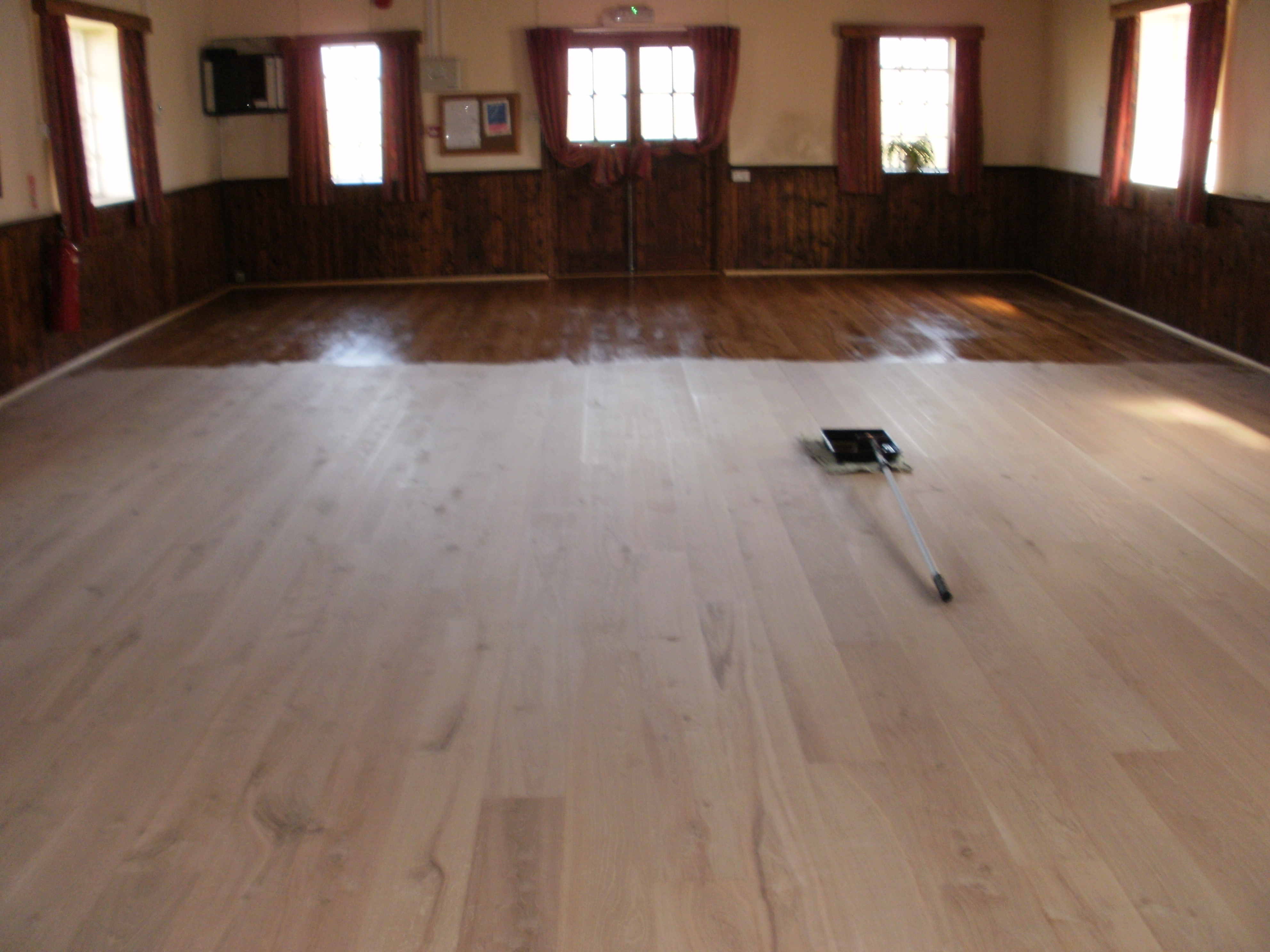 Cleaning and polishing a dirty floor