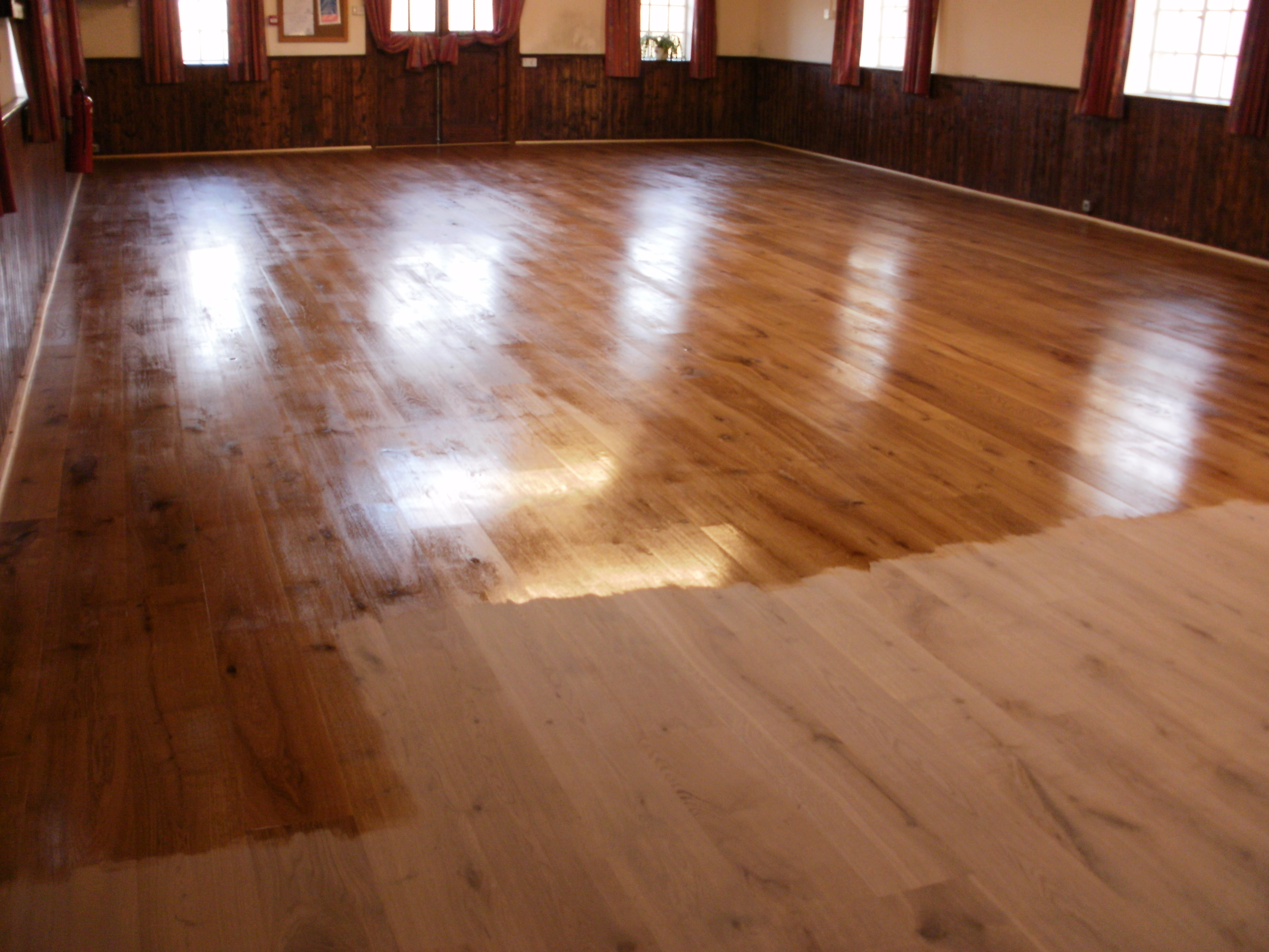 A clean and polished floor