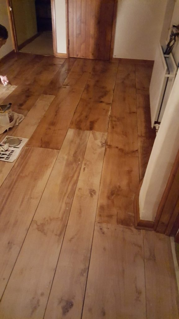 Cleaning a Wooden Floor in Devon