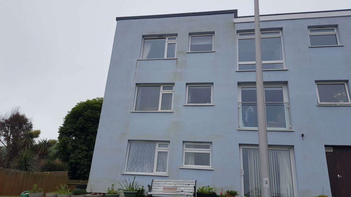 Stained Exterior Wall Cleaning
