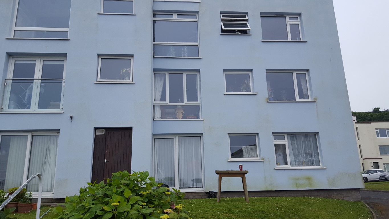 Stained Exterior Wall Cleaning in Devon